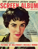 Elizabeth Taylor - Screen Album Magazine Cover 1950's Masterprint