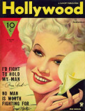 Jean Harlow - Hollywood Magazine Cover 1940's Lámina maestra