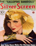 Claudette Colbert - Silver Screen Magazine Cover 1940's Masterprint