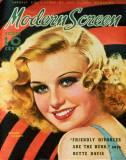 Ginger Rogers - ModernScreenMagazineCover1940's Masterprint