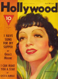 Claudette Colbert - Hollywood Magazine Cover 1940's Masterprint