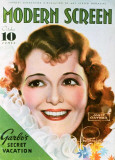 Janet Gaynor - Modern Screen Magazine Cover 1930's Masterprint