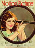 Clara Bow - Motion Picture Magazine Cover 1930's Photo
