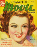 Myrna Loy - Romantic Movie Stories Magazine Cover 1930's Masterprint