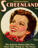 Hepburn, Katharine - ScreenlandMagazineCover1930&#39;s Masterprint