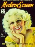 Jean Harlow - Modern Screen Magazine Cover 1930's Masterprint