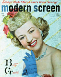 Betty Grable - Modern Screen Magazine Cover 1930's Masterprint