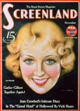 Joan Blondell - Screenland Magazine Cover 1930&#39;s Masterprint