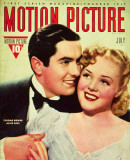 Alice Faye - Motion Picture Magazine Cover 1930's Photo