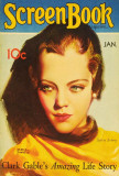Sylvia Sidney - Screen Book Magazine Cover 1930's Masterprint