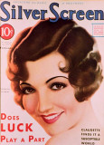 Claudette Colbert - Silver Screen Magazine Cover 1930's Masterprint
