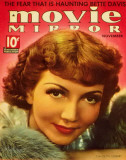 Claudette Colbert - Movie Mirror Magazine Cover 1930's Masterprint