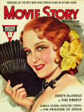 MacDonald, Jeanette - Movie Story Magazine Cover 1930's Masterprint