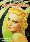 Carroll, Madeleine - Modern Screen Magazine Cover 1930's Photo