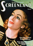 Joan Crawford - Screenland Magazine Cover 1940&#39;s Masterprint