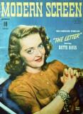 Bette Davis - Modern Screen Magazine Cover 1940's Masterprint