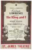 King And I, The - Broadway Poster , 1951 Lámina maestra