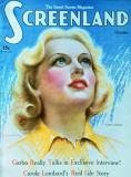 Carole Lombard - Screenland Magazine Cover 1920&#39;s Masterprint