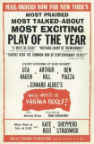 Who's Afraid Of Virginia Woolf - Broadway Poster , 1962 Masterprint