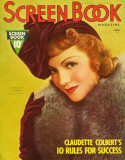 Claudette Colbert - Screen Book Magazine Cover 1930's Masterprint