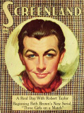 Robert Taylor - Screenland Magazine Cover 1930&#39;s Masterprint