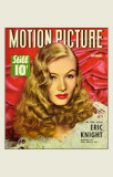 Lake, Veronica - Motion Picture Magazine Cover 1940's Photo