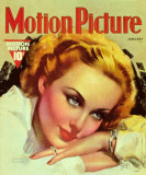 Carole Lombard - Motion Picture Magazine Cover 1930's Photo