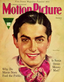 Tyrone Power - MotionPictureMagazineCover1930's Photo