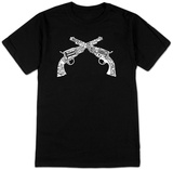 Pistols out of names for an outlaw T-shirts