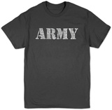 Lyrics To The Army Song T-shirts