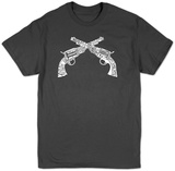 Pistols out of names for an outlaw Shirts