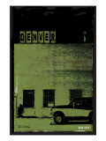 Vice City - Denver Green Premium Giclee Print by Pascal Normand