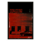 Vice City Detroit- Red Premium Giclee Print by Pascal Normand