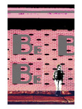 Brickchill - Pink Poster by Pascal Normand