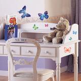Vivid Colorful Butterflies Wandtattoo