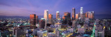 Night, Skyline, Cityscape, Los Angeles, California, USA Autocollant mural par Panoramic Images