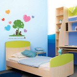 Reading Tree and Hearts Wall Decal