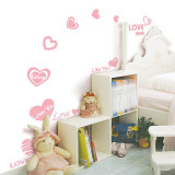 Pink Love Heart Series Adesivo de parede