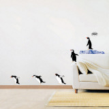 Penguin Group Dive Wall Decal