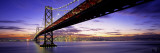 Twilight, Bay Bridge, San Francisco, California, USA Wall Decal by  Panoramic Images