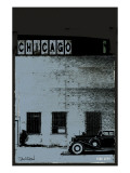 Vice City - Chicago grey Premium Giclee Print by Pascal Normand