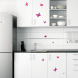 Flock of Vibrant Pink Fuschia Butterflies Wall Decal