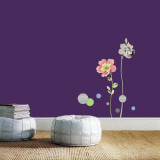 Literary Print Flower Wall Decal