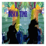 Disco Time Affiches par Jean-François Dupuis