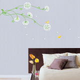 Lovely Flowers in the Wind Vinilos decorativos