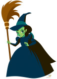 Kids Wizard of Oz - Wicked Witch Lifesize Standup Cardboard Cutouts
