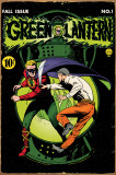 Green Lantern Comic Book Tin Sign