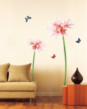 Giant Flower Sprouts and Butterflies Wall Decal