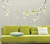 Spring Flowers and Birds Wall Decal
