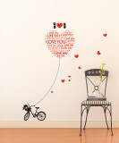 I Love You Mon Petit Chat (My Small Cat) Wall Decal